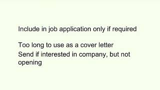 Write Letter of Interest in a Job