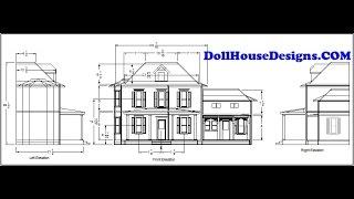 DollHouseDesignsCOM Build Your Own DollHouse Using Our Plans Ariella  Miniature Blueprints Pdf
