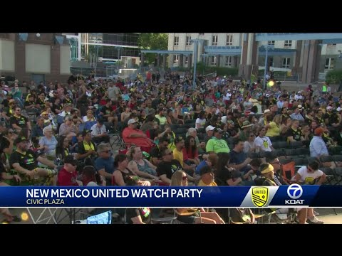Civic Plaza New Mexico United watch party was big hit