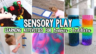 SENSORY PLAY ACTIVITIES FOR BABIES & TODDLERS // LEARNING THROUGH PLAY | Jessica Elle