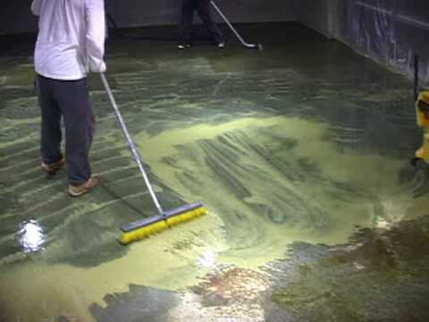 www.concreteideas.com - How to acid stain a floor - How to stain concrete floors