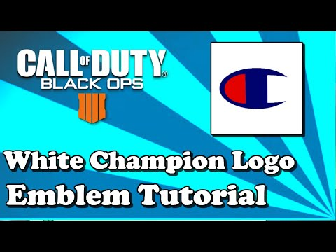 SUPER EASY WHITE CHAMPION EMBLEM TUTORIAL | Call Of Duty Black Ops 4
