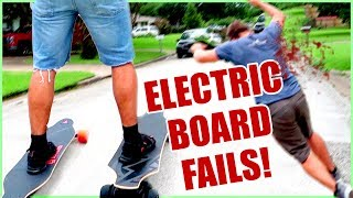 DANGEROUS ELECTRIC SKATEBOARD CHALLENGE!