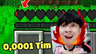 Vinh Parkour Chỉ Với 0,001 Tim !!! - THỬ THÁCH PARKOUR TRONG THẾ GIỚI CÓ MÁU SIÊU ÍT TRONG MINECRAFT