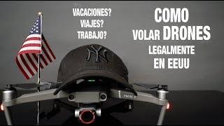 COMO VOLAR DRONES LEGALMENTE EN EEUU / LEYES DRONES FAA ESPAÑOL / TODO LO QUE DEBES SABER