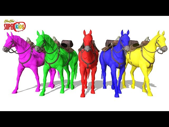 Learn Colors With Horses    ChuChu Super Kids