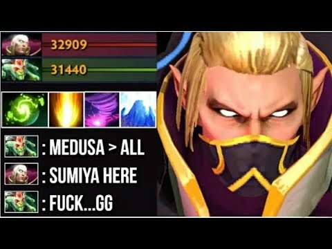 EPIC Shit SumiYa Invoker GOD vs HARD Medusa Insane Combo Best Magic Show Disaster Game 7.07 Dota 2