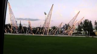 preview picture of video 'Paphos Cyprus. Pafiako Junction Roundabout Decorated For Christmas 2012.'