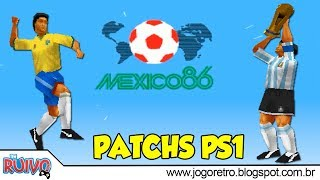 Copa do Mundo 1986 (World Cup 86 / WE2002 Patch) no Playstation 1 / PS1
