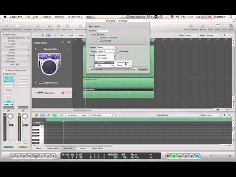 Logic Pro 9 Beginner Tutorial