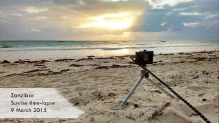 preview picture of video 'Zanzibar sunrise time-lapse'
