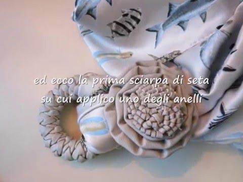 Tutorial Elisir Bijoux - gli anelli delle tende per personalizzare delle sciarpe gioiello
