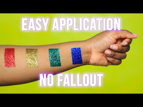 How to Apply Loose Glitter With NO Fallout ft IsokenEnofe Glitter