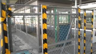 山陽本線岡山駅在来線3号ホーム喫煙ルーム設置工事中