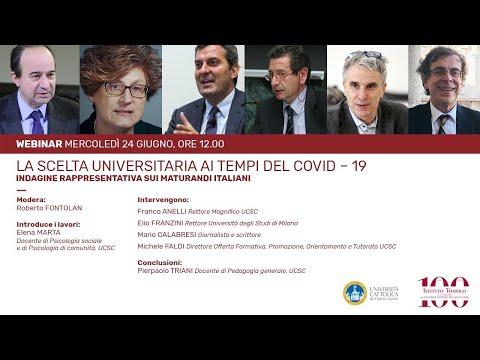Il Coronavirus e la scelta universitaria