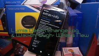 preview picture of video 'Lumia Denim Change log & Walkthrough- What's New'
