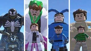 Venom(Transformation),Lizard,MisterFantasic,Sandman - Lego Marvel Super Heroes Game