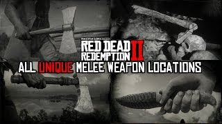 Red Dead Redemption 2 - All Unique Melee Weapon Locations