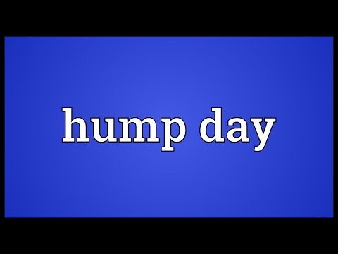 Hump day Meaning
