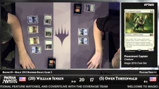 Pro Tour Magic 2015 - Round 10 (Draft) – William Jensen vs. Owen Turtenwald