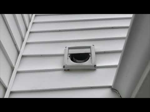 Recently, I went on a service call for a new residential client in Farmingdale, NJ who contacted us to resolve an issue with birds inside their home. The client informed me that they have been hearing chirping, pecking and rustling sounds in their master bathroom very early in the morning. As I inspected the exterior of their home, I came across an exhaust fan that appeared to be damaged. I could tell by some of the marks all around the outside of the exhaust vent and the fact that two of the louvers are missing, that the homeowners have house sparrows. House sparrows prefer to live anywhere there are people because we create the perfect habitat for them. They are attracted to exhaust and dryer vent ducts to nest because they are private places to lay their eggs hidden from potential predators and they like the warm air that flows through them. The most effective method to safely remove the birds from the home is set up a custom one-way exclusion. A one-way exclusion allows the birds to safely exit the home and prevent them from getting access back into the house. I took a piece of hardware cloth and placed it over the exhaust vent. Then I cut a hole in it, attached a flap, and then weighed it down with washers. So the bird is able to push out and exit the vent and the door will close behind him. Which means that it can't get back in. I'm going to schedule a follow-up with the homeowners to make sure that their home is bird-free. Once the birds have been evicted I'm going to cover the exhaust vent with a more permanent and durable cover.