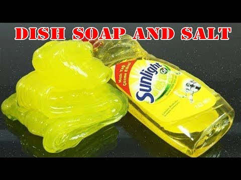 Slime Made From 2 Ingredients (Dish Soap And Salt) - Success 100% - Slime DIY