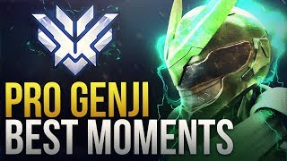 BEST PRO GENJI MOMENTS  - Overwatch Montage