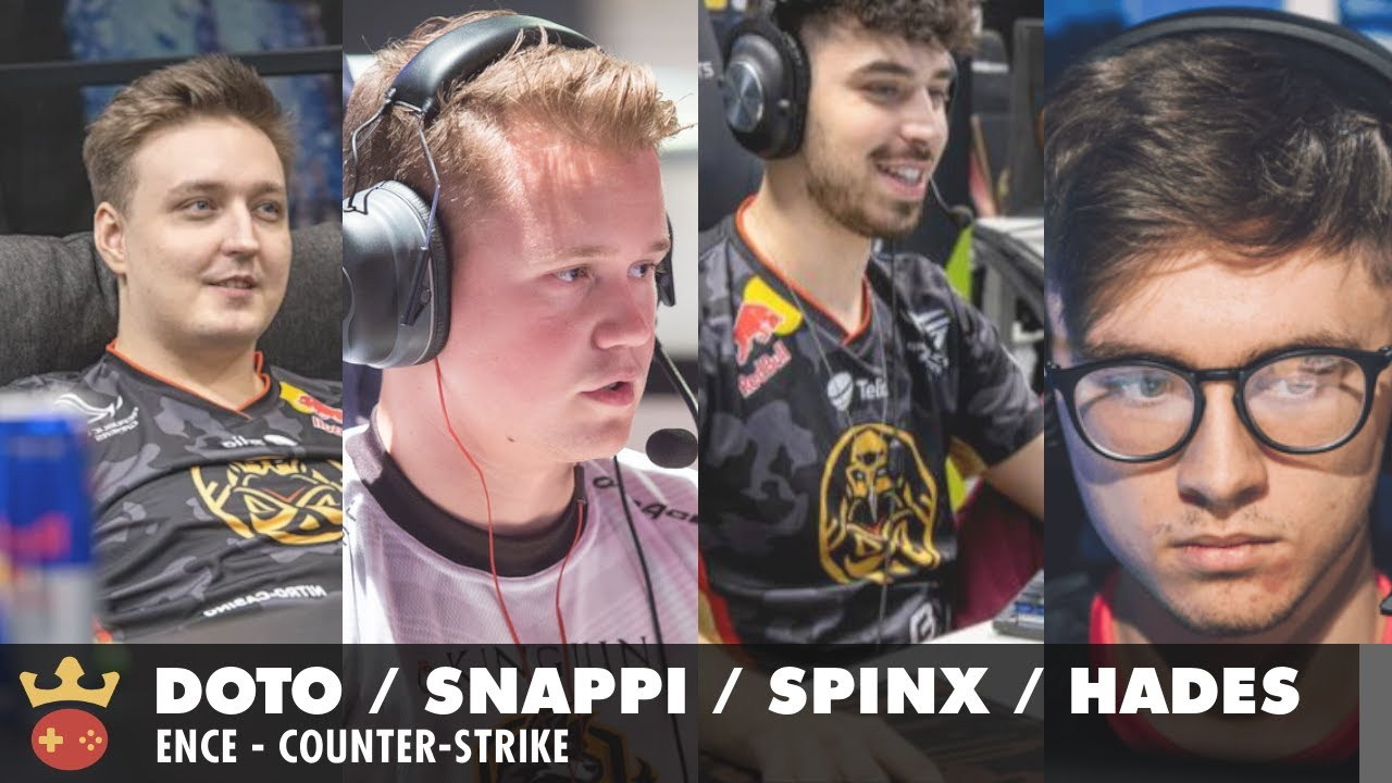 Video of Interview with doto, Snappi, Spinx, and hades from ENCE at ESL Pro League Season 14