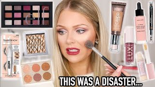 FULL FACE OF NEW DRUGSTORE MAKEUP TESTED   KELLY STRACK