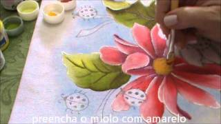 Pintura em Tecido para Iniciantes Flores e Folhas