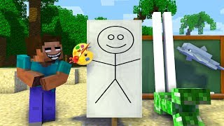 Monster School : Drawing Monsters Challenge - Minecraft Animation