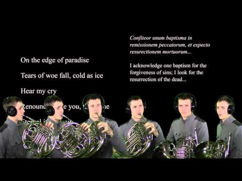 This is an arrangement of a part of Bach's Mass in B Minor for Six Horns, originally inspired by Symphony X.
