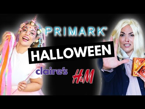 SÚPER HAUL Primark, HM, Claire's, bazares.. DISFRACES HALLOWEEN 2018 | Pretty and Olé