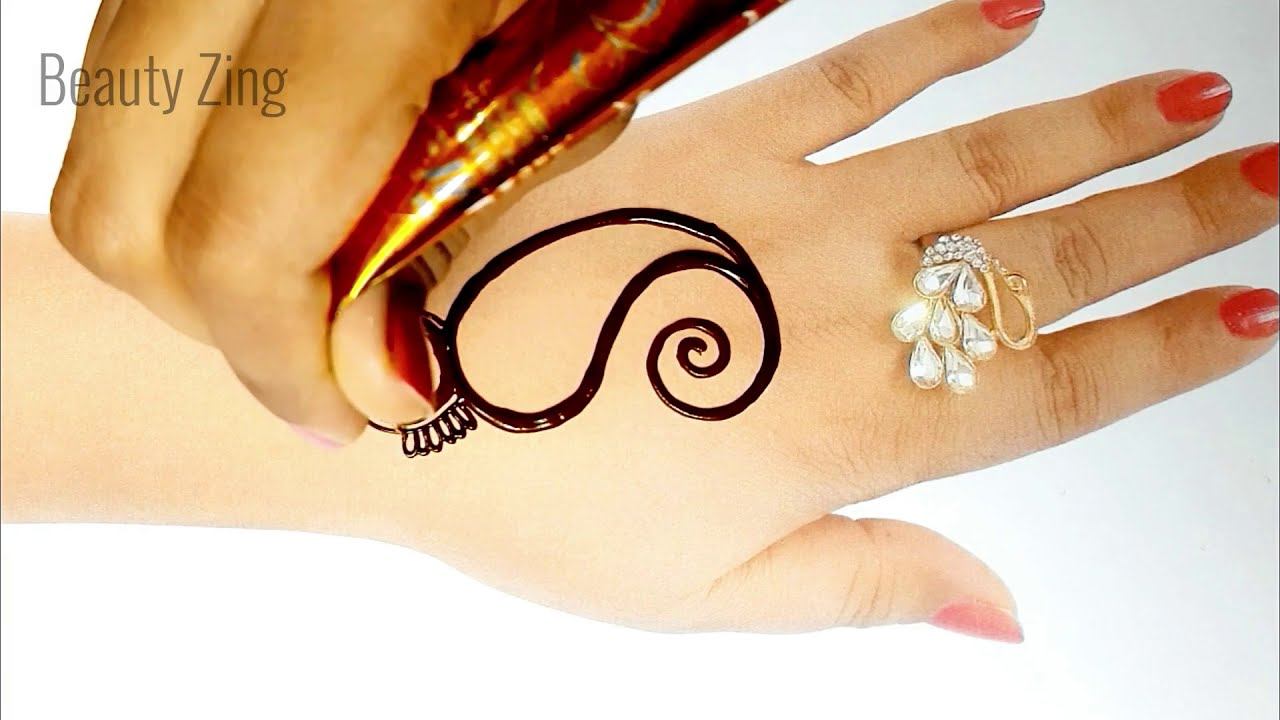 very easy mehndi design for beginners by beauty zing