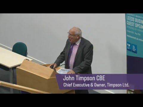 """Upside Down Management"": John Timpson CBE (Founder and Chairman of Timpson Shoe Repairs)"