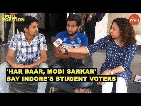 & # 39; हरार, मोदी सरकार & # 39 ;, इंदौर के छात्र मतदाताओं का कहना है