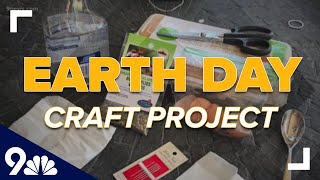An Earth Day Craft Project That Uses Recycled Materials
