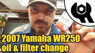 Yamaha WR250 Oil & Filter Change #1827