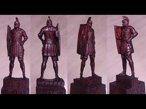 Обработка статуэтки римлянина на станке с ЧПУ