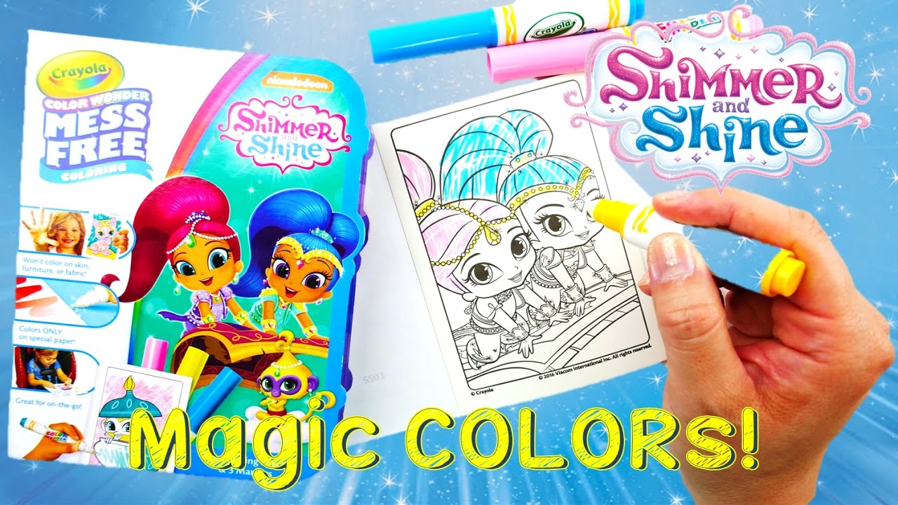 Color Wonder Shimmer and Shine Magical Coloring Travel Set DIY
