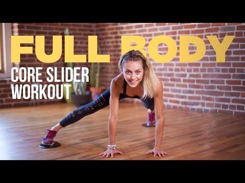 13-Minute Full Body Workout Using Core Sliders (Sliding Disks)
