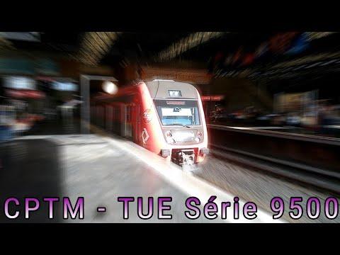 CPTM - TUE Série 9500 Partindo da Estação Palmeiras Barra Funda - Linha 7 Rubi