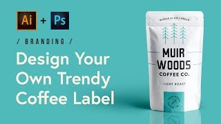 Design A Trendy Coffee Label In Adobe Illustrator And Photoshop (Tutorial) ☕