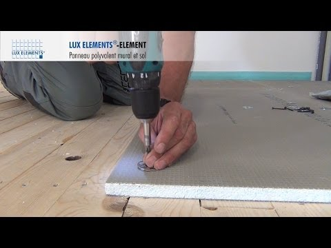 lux elements montage element panneau polyvalent sur plancher bois. Black Bedroom Furniture Sets. Home Design Ideas