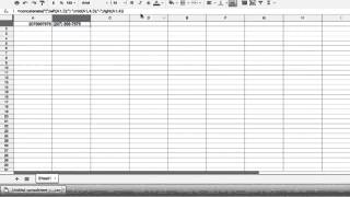 How to Insert a Phone Number in Google Spreadsheets : Google & Internet Browser Tips