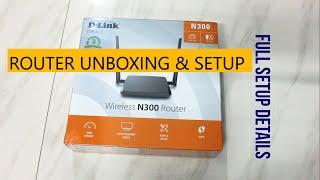 D LINK DIR-615 N300 ROUTER Unboxing & Full Setup Details