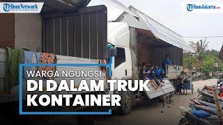 Korban Banjir di Bekasi Terpaksa Mengungsi di Mobil Truk Kontainer, Belum Dapat Bantuan