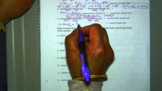 Practice Problems On Net Ionic Equations Pg 13 On Packet