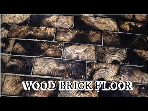 Making a wood brick floor for their Blacksmith Shop. [14:56]
