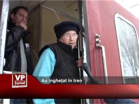 Au înghețat în tren